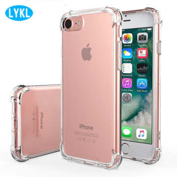 Airbag For iPhone 11 12 XS MAX XR Crystal Clear Shockproof Cover Transparent Soft TPU Cases for Apple 7 8 Plus X 6 6S 5 SE Coque