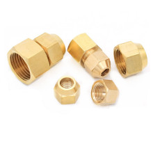 """Copper flared pipe fittings 1/8"""" 1/4"""" 3/8"""" 1/2"""" Female thread 6mm 8mm 10mm Tube OD Air conditioning refrigeration pipe fittings"""