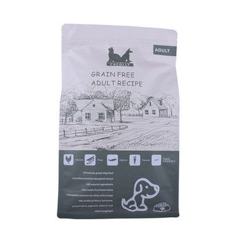 Custom printed flat bottom pet food bag