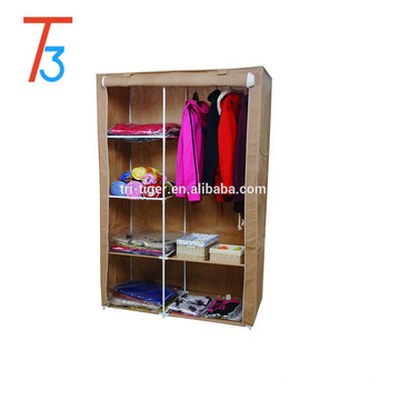 Armário do Wardrobe da tela do Non-wovenFolding de 2 portas
