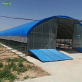 Blue greenhouse shed tarpaulin