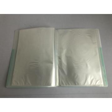 Transparent clear identification display book