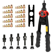 BT-606 Double Insert Manual Rivet Machine 12in Labor-saving Hand Riveter Riveting Tools with Nuts for M3/M4/M5/M6/M8 Nut
