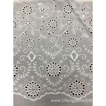 Spray White Cotton Embroider Fabric