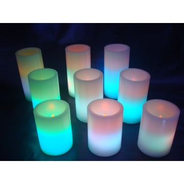 color changing waved end led candle