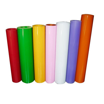 Semitransparent colorful PVC sheets