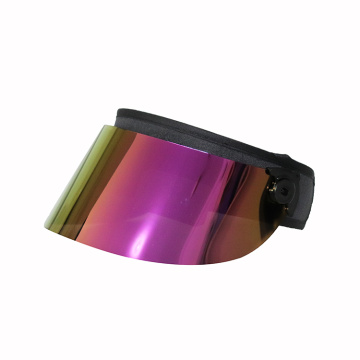 Purple face visor uv protection PC visor hat