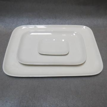 White Porcelain Square Plates