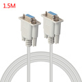 Universal 1.5/3/5M F/F Serial RS232 Null Modem Cable Female to Female DB9 FTA Cross Connection 9 Pin COM Data Cable Converter