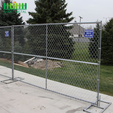 Used Portable Temporary Fence Chain Link Fence Panels