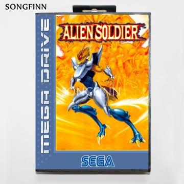 16 bit MD Memory Card With Box for Sega Mega Drive for Genesis Megadrive - Alien Soldier Cover2