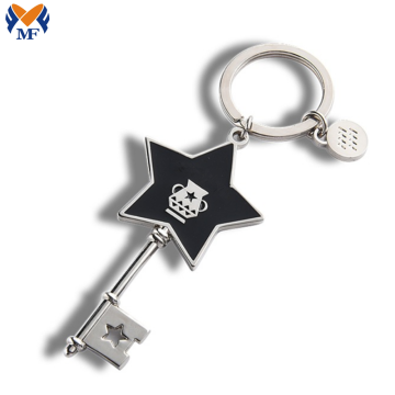 Metal Custom Logo Key Shaped Keychain
