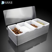2/3/4/5/6 Pcs Seasoning Box Container Spice Jar Fruit Storage Rack Stainless Steel Kitchen Storage Holder Accessories
