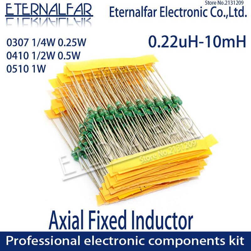 0410 1/2W 0.5W 3.3MH 3.3 mH 3300 UH 332K Axial Fixed Color Code Ring Inductors DIP Inductance Radios Electromagnetic Induction
