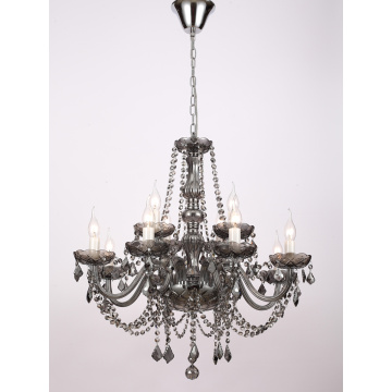 European Style Restaurant Smoke grey Crystal Chandelier