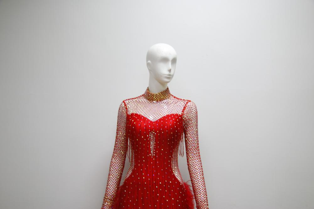 Red Latin Ballroom Dresses For Competition