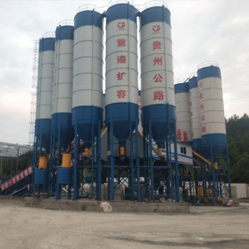 180m3 belt type large concrete batching plant
