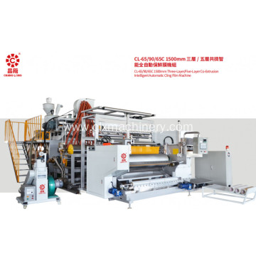 Cast stretch film machine