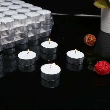 White Unscent Flameless paraffin tea light candle