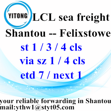 Sea Shipping to Felixstowe from Chaozhou Chaoyang Jieyang