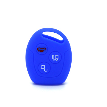 Ford 3 buttons silicone car key protect case