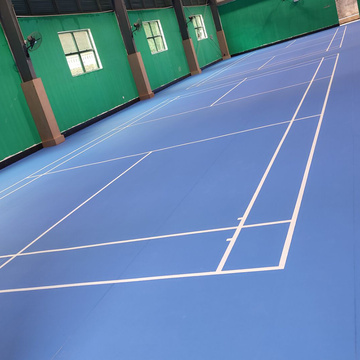 indoor PVC green Badminton court mat