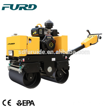 Vibratory Mini Walk Behind Double Drum Road Roller Compactor Price for Sale
