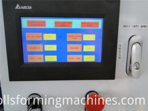 Shutter Door Forming Machine System-PLC station