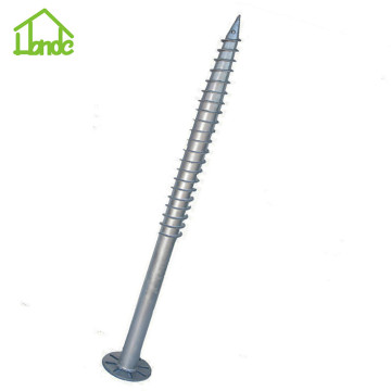 No dig galvanized ground screw anchor foundation