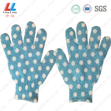 blue exfoliating shower bath gloves benefit wholesale
