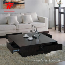 Sofa Square Center Table Design With Drawers