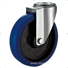 80 mm  European industrial rubber  swivel caster without brake