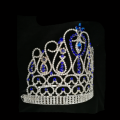 Dark Blue Rhinestone Pageant Tiara Crown