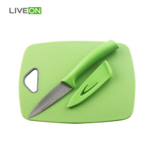 Plastic Cutting Board With Paring Knife
