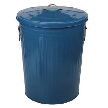 75LGalvanized Steel Metal Box for Garden Trash Can