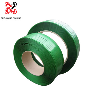 Ang Green Embossed Polyester PET Plastic Strip alang sa Packaging