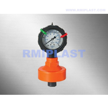 PVC PP Diaphragm Seal with Gauge