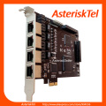 Asterisk card TE420 with 4 E1/T1 ports,ISDN PRI card PCI-E digium E1 t1 for Freepbx Issabel Asterisk PBX IP Telephone Appliance