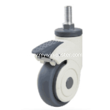 3 Inch Threaded Steam Swivel TPR PP Material Medical Caster