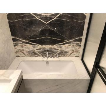 Modern style bathroom vanity mirror cabinet with lighting