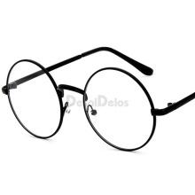 Oversized Clear Round Glasses Silver Metal Frame Vintage Big Circle Glasses Brand Designer Huge Big Nerd Eyeglasses Women