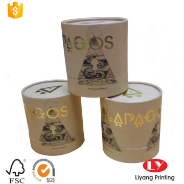 Popular browm kraft paper cylinder gift box