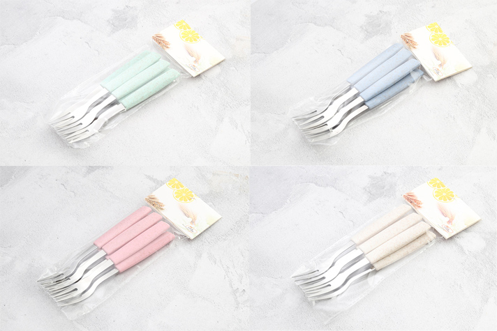 Wheat plastics handle fruit fork