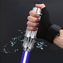 High power Blue Laser 450nm10000m 21cm Focusable Blue Laser Pointers Flashlight Most Powerful burn match candle lit cigarette