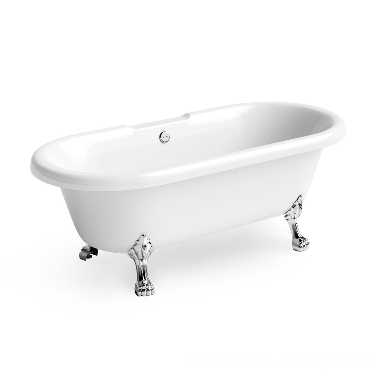 Freestanding Bathtub in Small Bathroom