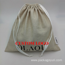 jute drawstring gift pouch bag