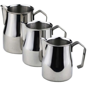 Stainless Steel Milk Frothing Jug Thick Coffee Milk Foamer Mugs Italian Latte Art Jug Milk Pitcher Frother Cup 350/500/700Ml