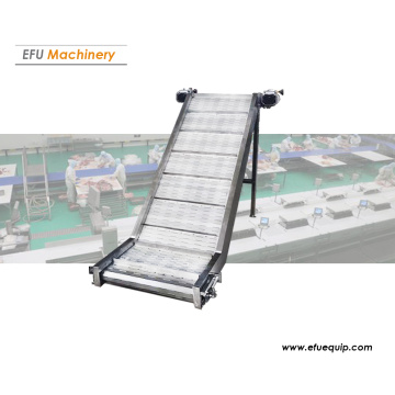 Inclined mesh belt conveyor
