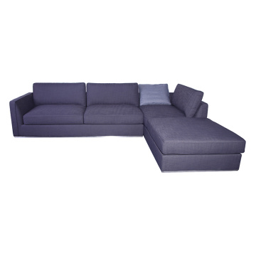 Grey Fabric Richard Left Sectional Sofa