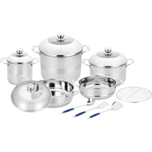 Cookware Set with Steamer and Cooking Utensils